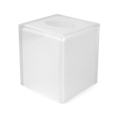 JONATHAN ADLER Hollywood Square Tissue Box Clear