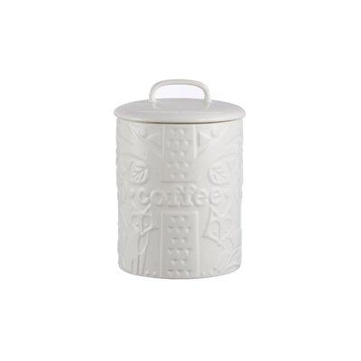 PORT-STYLE Mason Cash Forest Coffee Jar Cream Fox