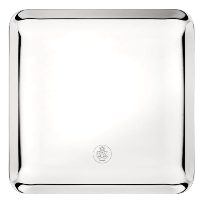 CHRISTOFLE Platter Silver Time 20X20