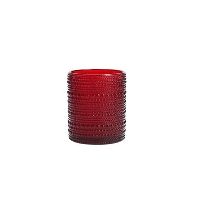 FORTESSA D&V Jupiter Red Dof Glass 10Oz (.30L) 7.5X9.5Cm