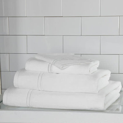 FRETTE Hotel Classic Wash Cloth White / White 12 X 12''