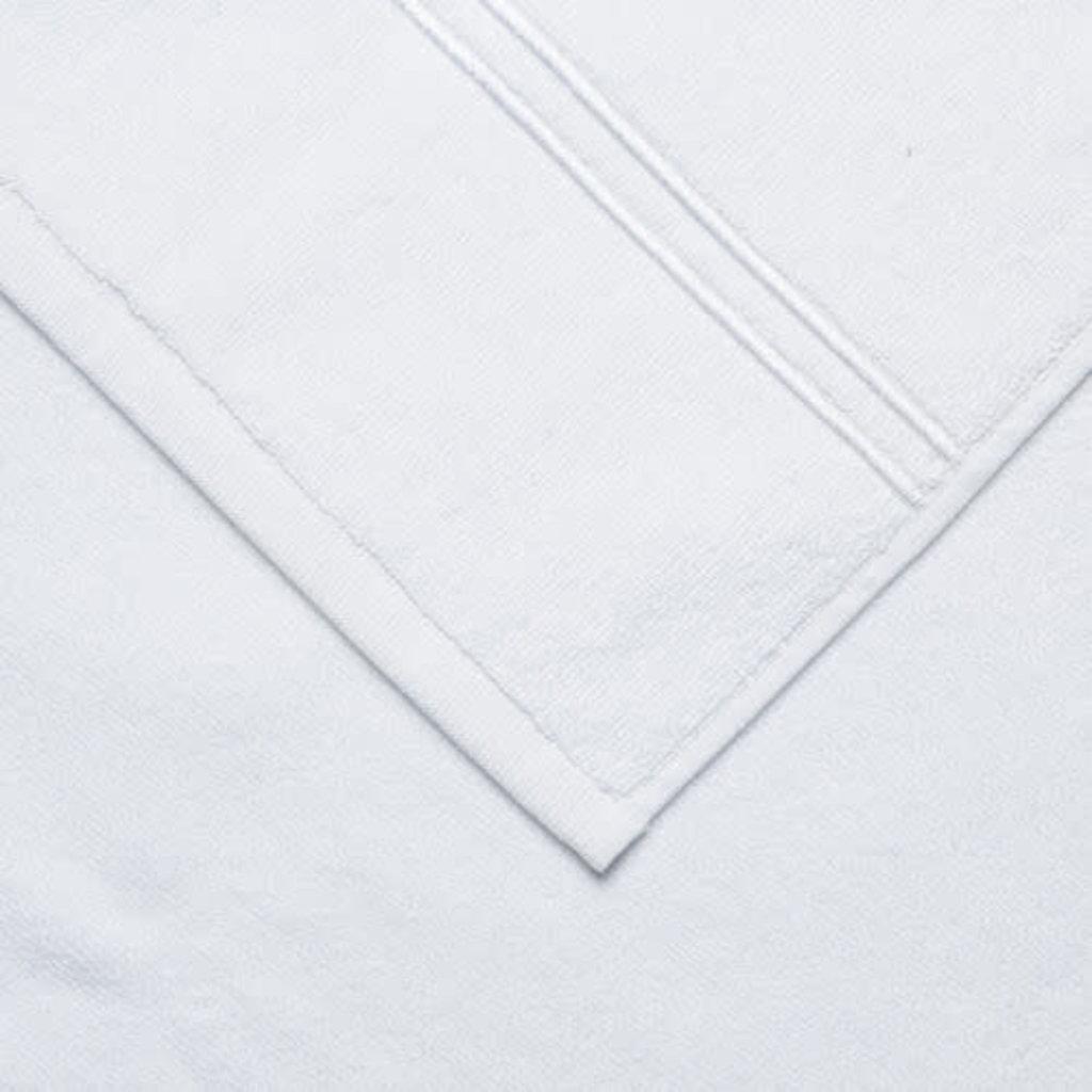 FRETTE Hotel Classique Débarbouillette Blanc / Blanc 12 x 12''