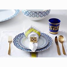 JONATHAN ADLER Newport Dessert Plate Navy / Gold