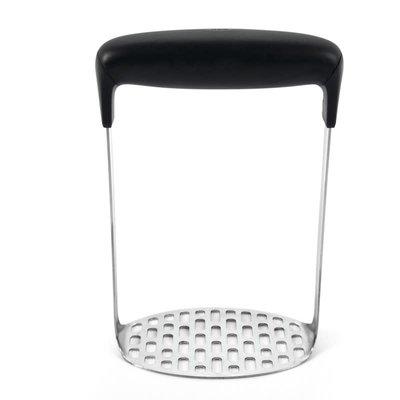 OXO Good Grips Presse-purée Lisse Noir en Acier Inoxydable 15 cm