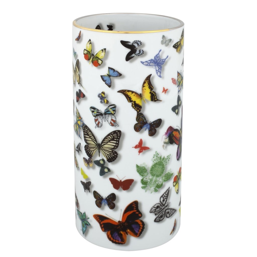 VISTA ALEGRE Butterfly Parade - Christian Lacroix Vase in Gift Box