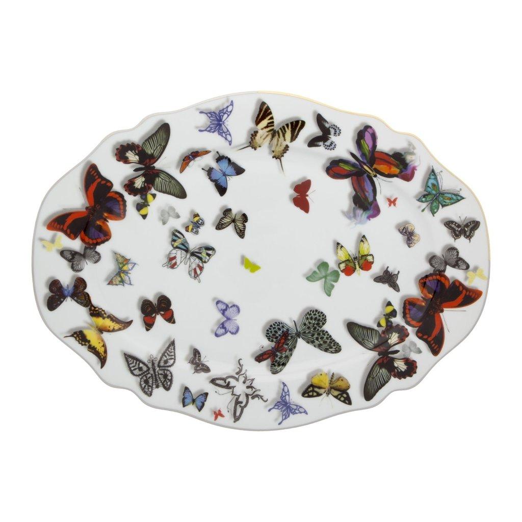 VISTA ALEGRE Butterfly Parade Christian Lacroix Petit Plateau
