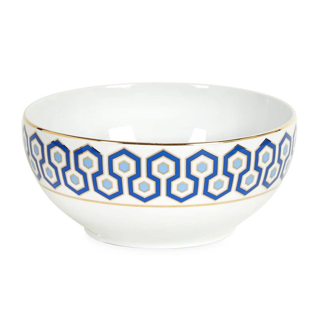 JONATHAN ADLER Newport Bol à Salade Bleu Marin / Or