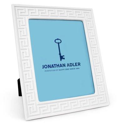 JONATHAN ADLER Charade Greek Key Picture Frame White 8 x 10''