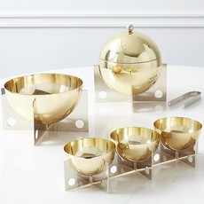 JONATHAN ADLER Berlin Petite Serving Bowls Brass / Stainless Steel
