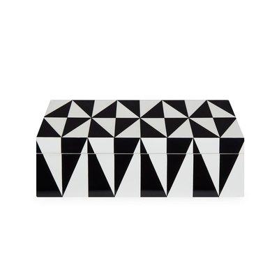 JONATHAN ADLER Op Art Box Medium Black / White