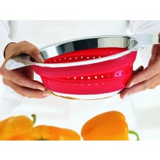 ROSLE Foldable Colander Red 9.4 In.