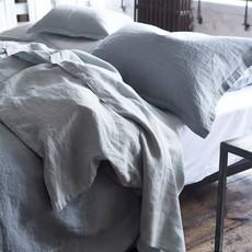 DESIGNERS GUILD Biella Pale Gris & Colombe Grand Lit Taie 30 X 20'' - 75 X 50 Cm