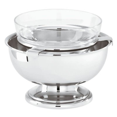 SAMBONET Elite Supreme Cup Shrimp Cocktail Server Crystal Stainless Steel Each 12 1/4''