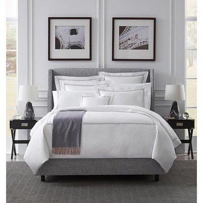 SFERRA Grande Hotel Queen Flat Sheet White / Silver 96 X 114''
