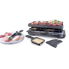 SWISSMAR Classic 8-Person Raclette W/Reversible Cast Iron Grill Plate - Anthracite
