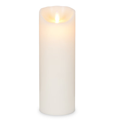 "ABBOTT Lg 3X9"" Ivory Flameless Candle"