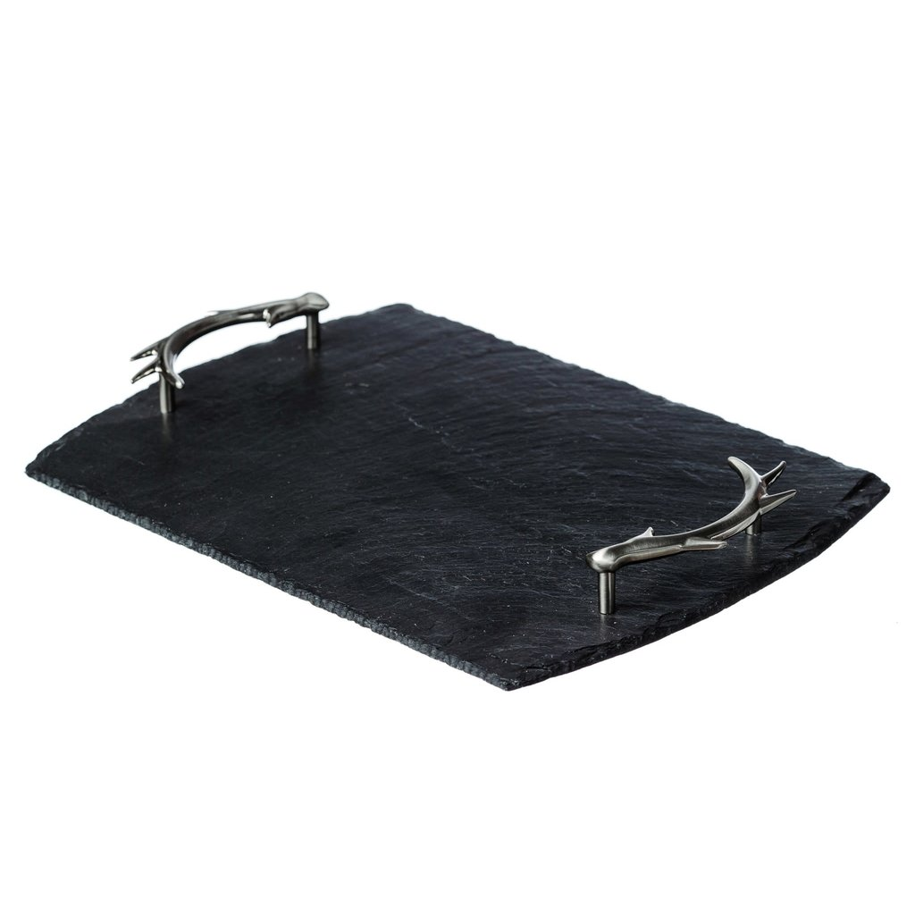 Medium Serving Tray With Antler Handles