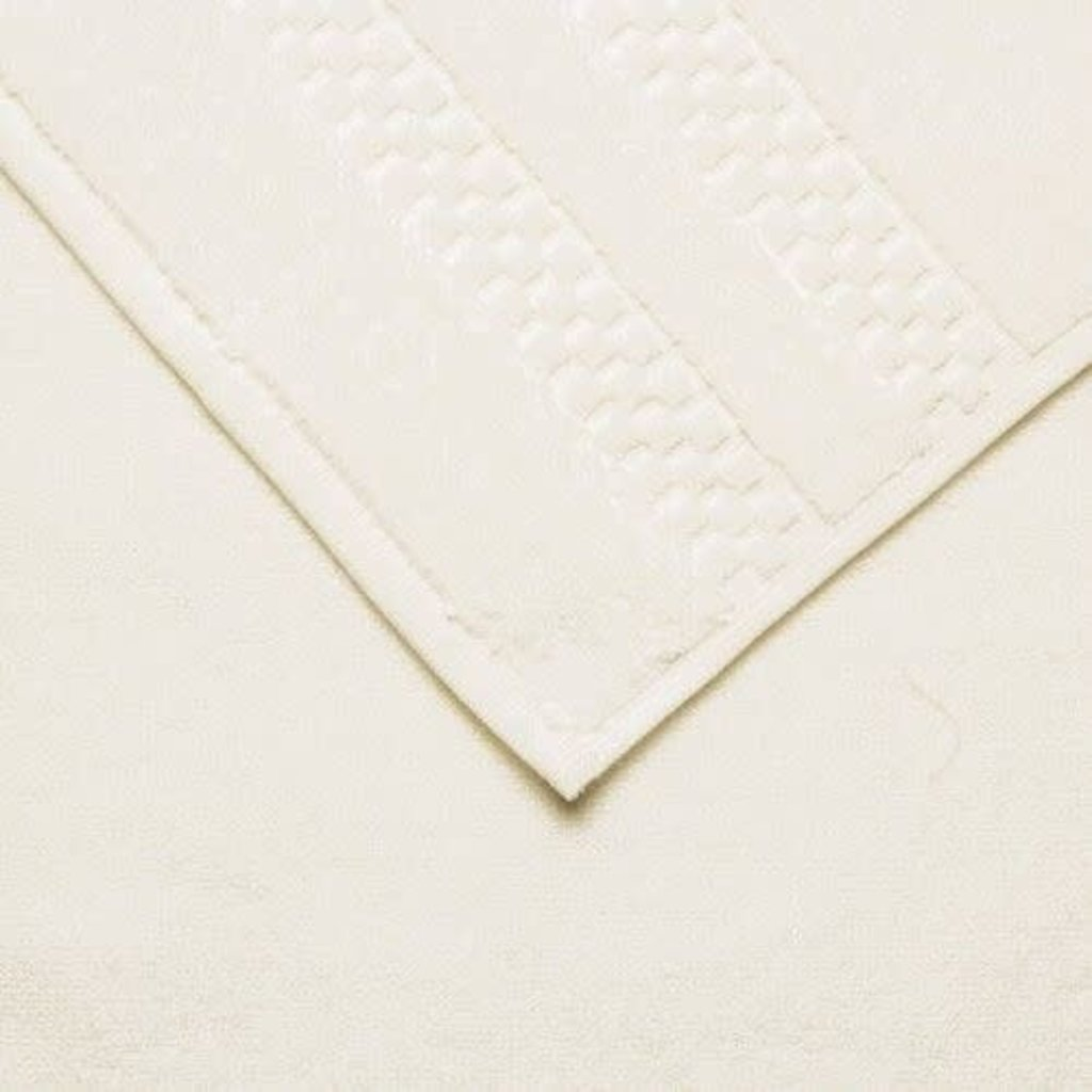 FRETTE Checkerboard Washcloth Ivoire Single 13 x 13''