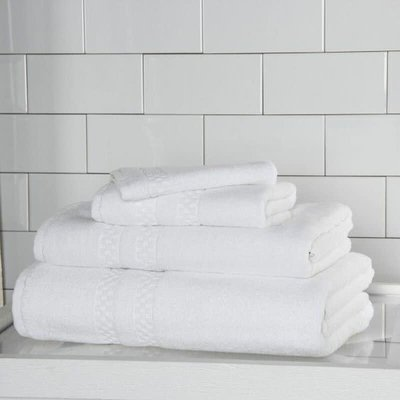 FRETTE Checkerboard Serviette de Bain Blanc Single 27 x 54''