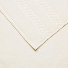 FRETTE Checkerboard Bath Towel Ivory Single 27 X 54