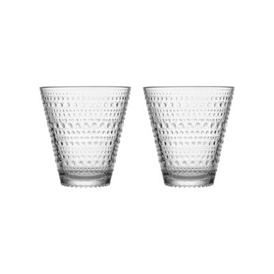 IITTALA Kastehelmi Tumbler 10 Oz Clear 2Pc