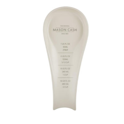 PORT-STYLE Mason Cash Innovative Spoon Rest with Measure Stoneware 10 x 4 x 1''