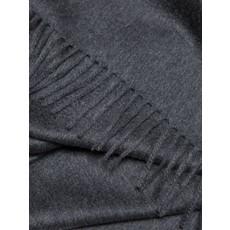 ALEX BEGG Arran Plain Cashmere Throw Dark Grey