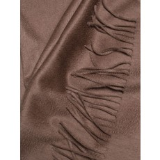 ALEX BEGG Arran Plain Cashmere Throw Mink 58 x 72''