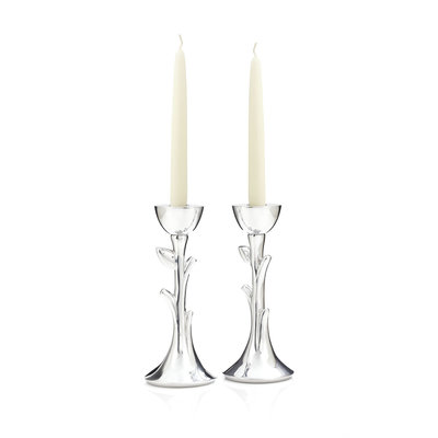 NAMBE Tree of Life Sabbath Candlesticks 8''