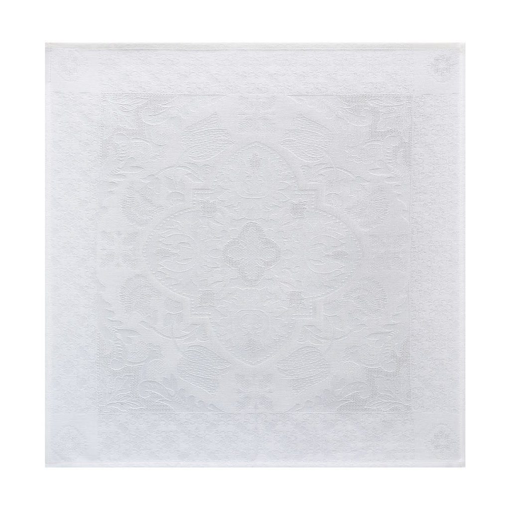 LE JACQUARD FRANCAIS Azulejos Serviette White