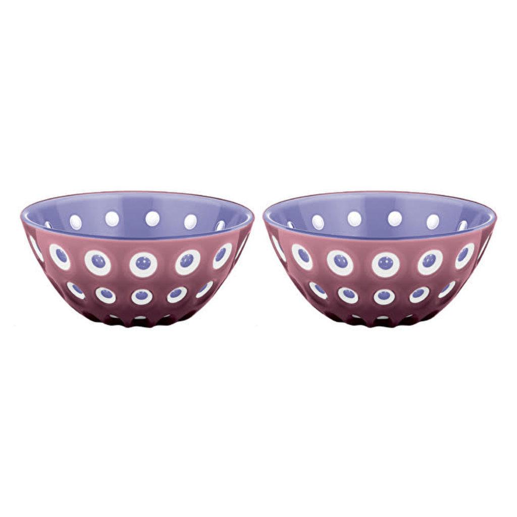 "GUZZINI Set Of 2 Bowls 12Cm ""Le Murrine"" Mauve/White/Lilac"