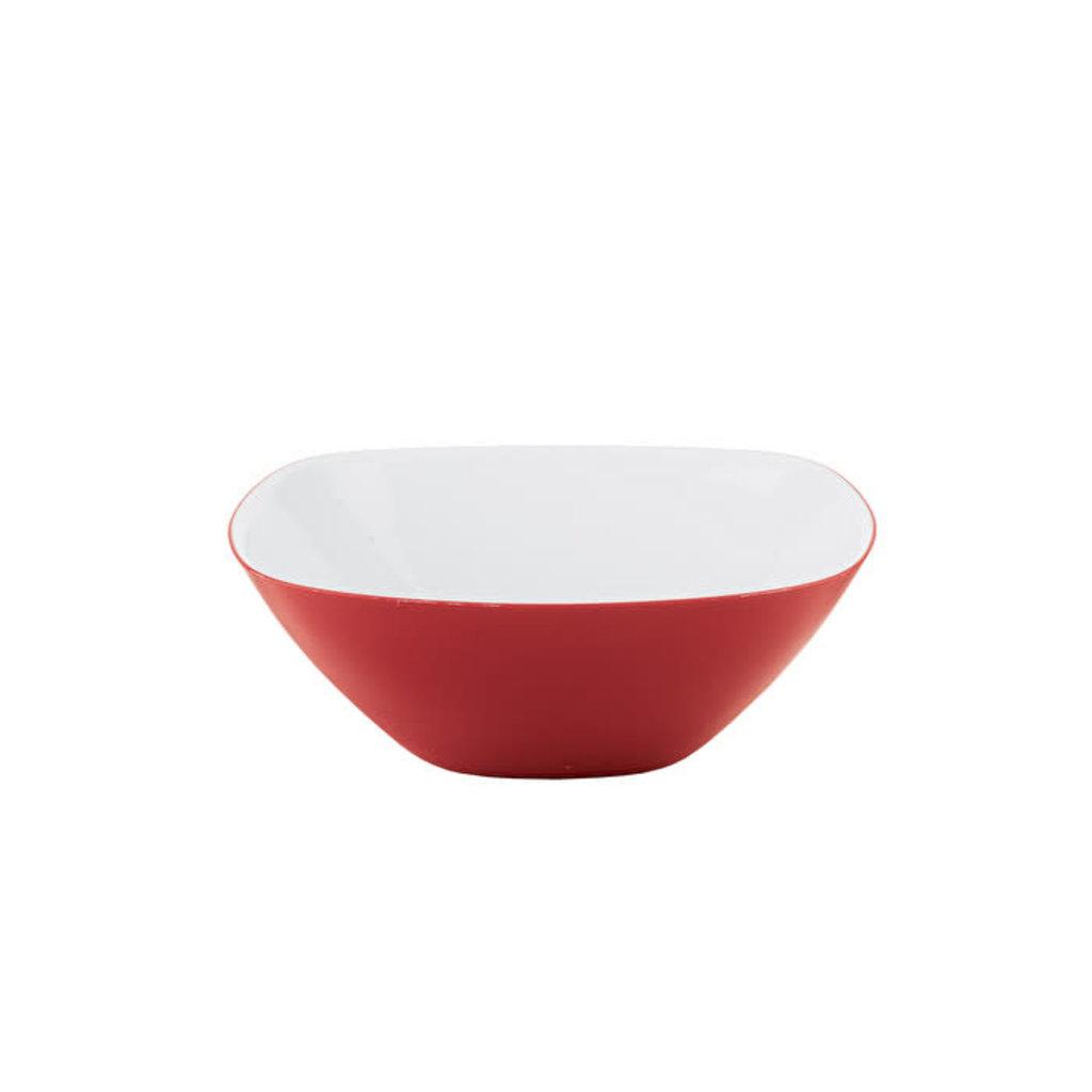 GUZZINI S Two-Tone Bowl Vintage Plus - White/Red