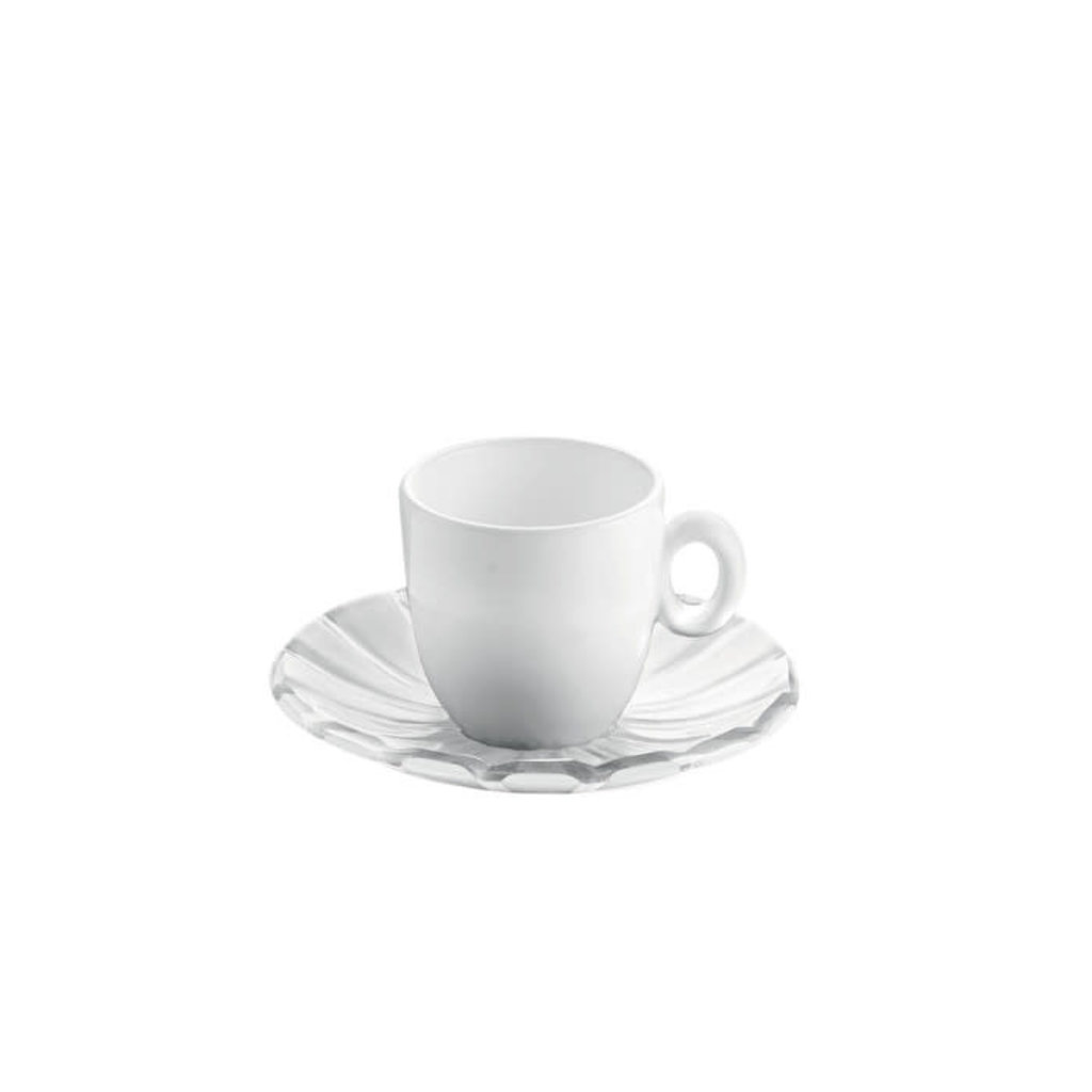 GUZZINI Set 2 Espresso Cups Grace Transparent