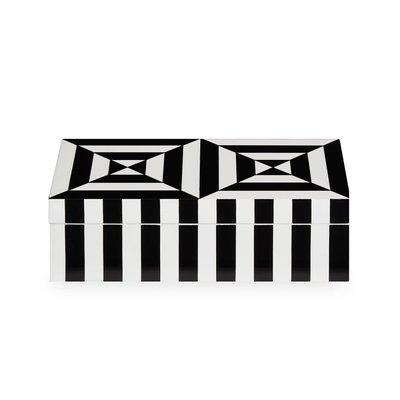 JONATHAN ADLER Op Art Box Small Black / White