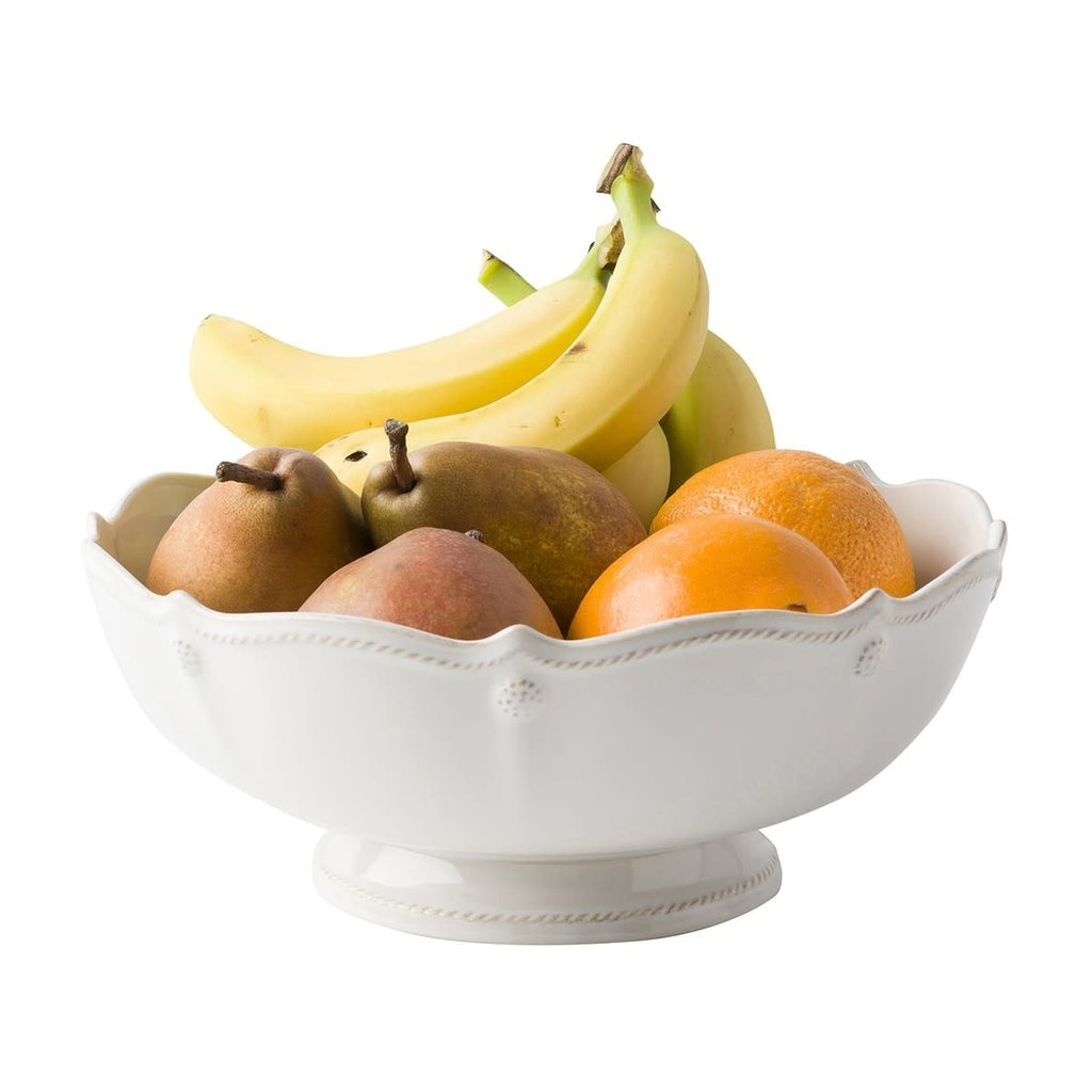 "JULISKA Berry & Thread Whitewash Footed Fruit Bowl 11""W, 4.5""H"
