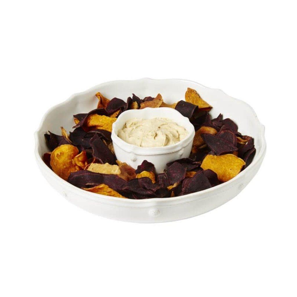 "JULISKA Berry & Thread Whitewash Chip 'N Dip 12.5""W"