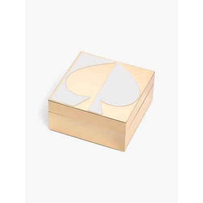 KATE SPADE Spade St Mtl Keepsake Box White