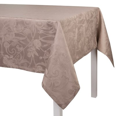 LE JACQUARD FRANCAIS Tivoli Tablecloth 69'' X 126'' Black Pepper