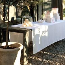 LE JACQUARD FRANCAIS Tivoli Tablecloth 69'' X 126'' White