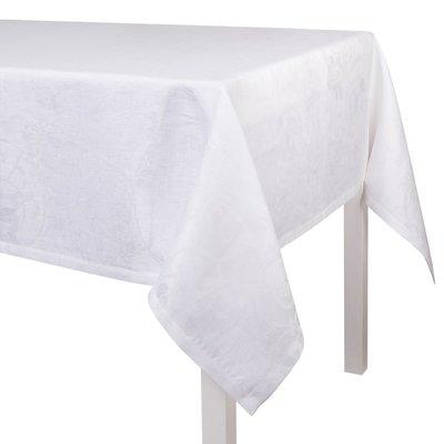 LE JACQUARD FRANCAIS Tivoli Nappe 69'' X 126'' Blanc