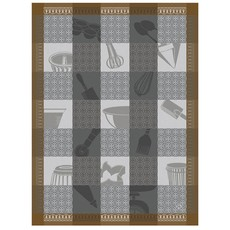 LE JACQUARD FRANCAIS Chef Patissier Mosaique Tea Towel Equinox 24'' X 31''