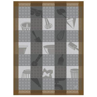 LE JACQUARD FRANCAIS Chef Patissier Mosaique Tea Towel Equinox 24'' X 31''