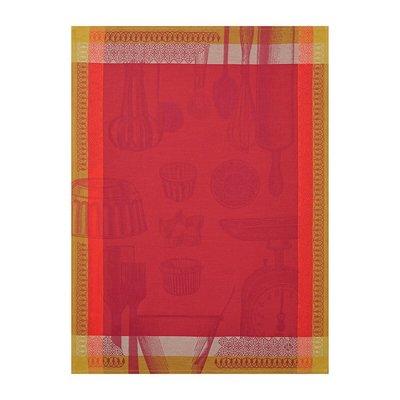 LE JACQUARD FRANCAIS Chef Patissier Ustensiles Tea Towel Raspberry Bush 24'' X 31''