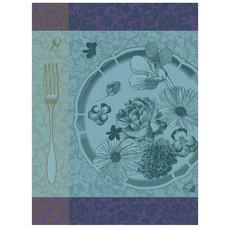 LE JACQUARD FRANCAIS Fleurs A Croquer Tea Towel Chlorophyll 24'' X 31''