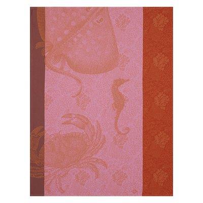 LE JACQUARD FRANCAIS Fonds Marins Crabe Tea Towel 24'' X 31'' Anemone