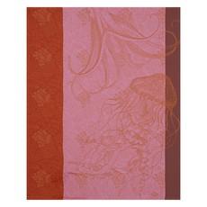 LE JACQUARD FRANCAIS Fonds Marins Meduse Tea Towel 24'' X 31'' Anemone