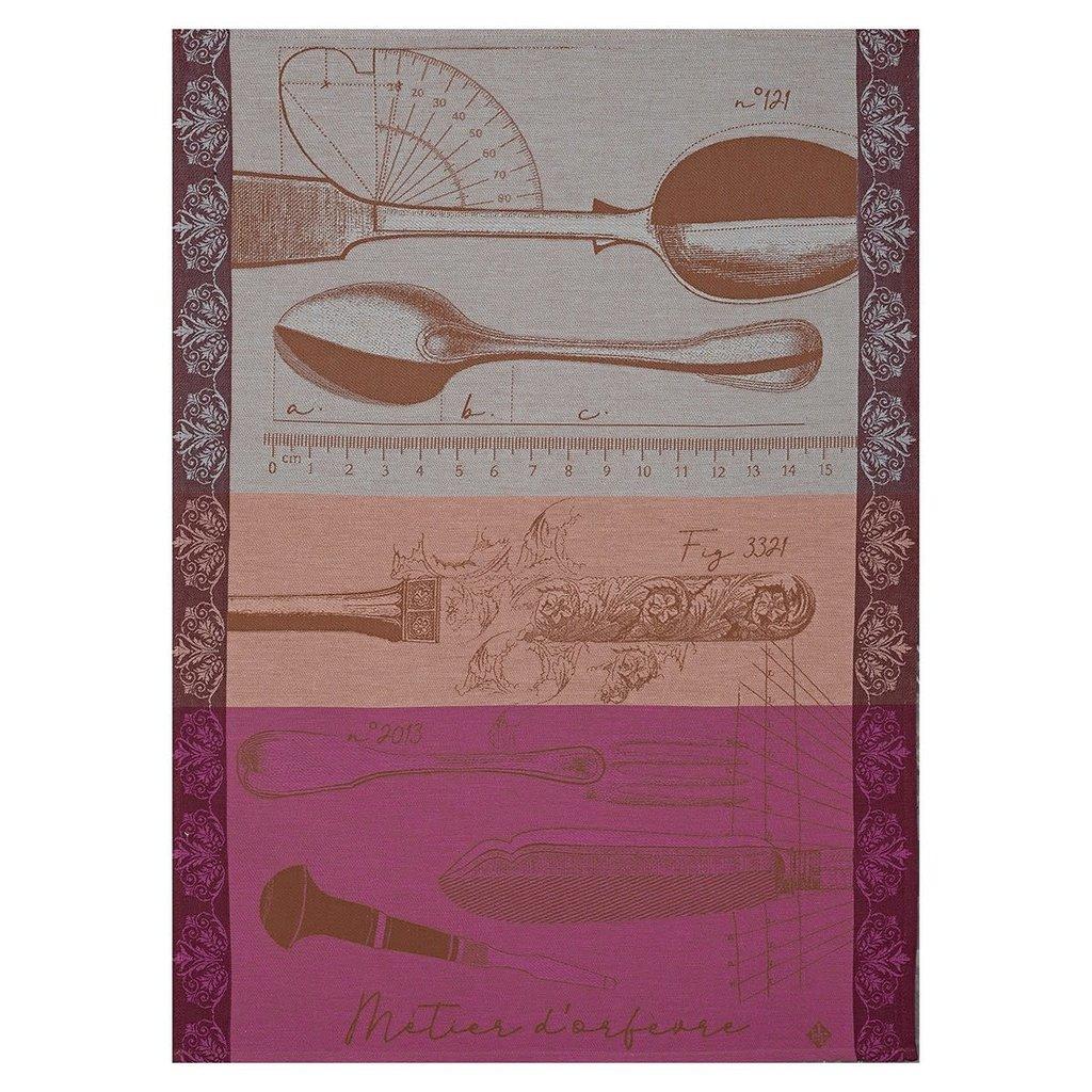 LE JACQUARD FRANCAIS Metier D'Orfevre Tea Towel 24'' X 31'' Copper