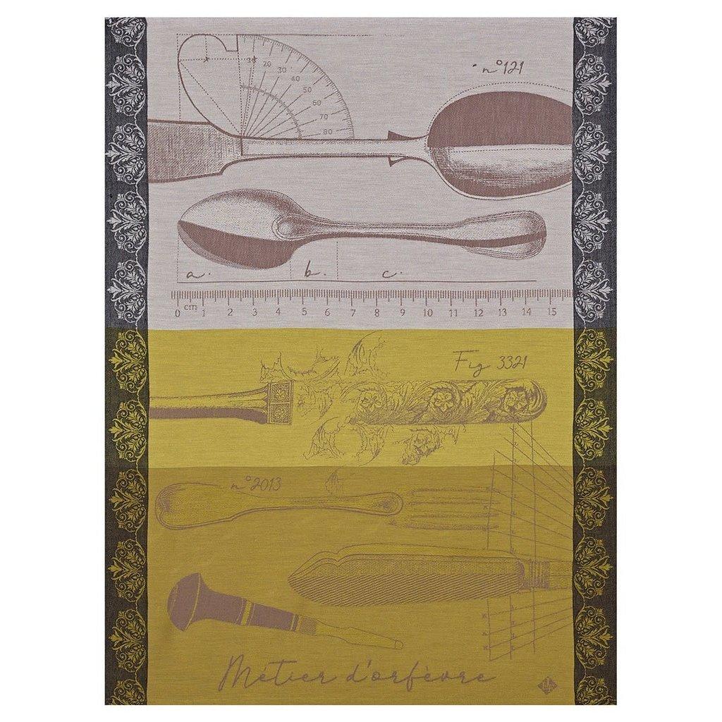LE JACQUARD FRANCAIS Metier D'Orfevre Tea Towel 24'' X 31'' Gold