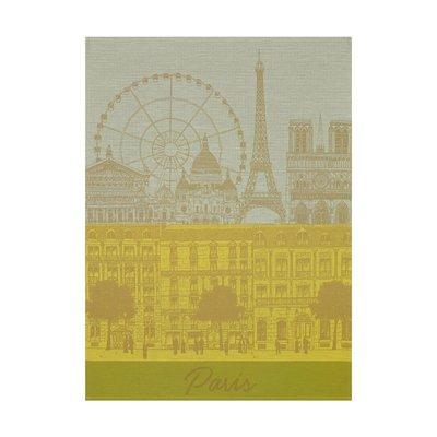 LE JACQUARD FRANCAIS Paris Panorama Tea Towel 24'' X 31'' Sun