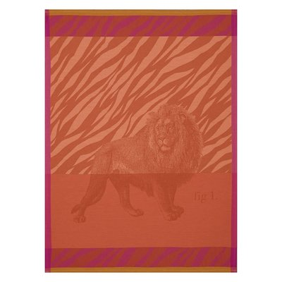 LE JACQUARD FRANCAIS Savane Tea Towel 24'' X 31'' Orange